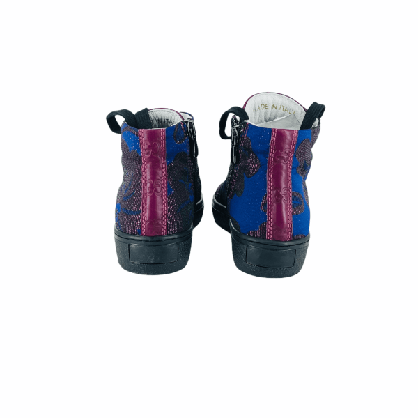 Clear blue BAROCCATO WITH violet brand LEATHER RYC & RICH-YCLED Handmade Shoes From Italy €285