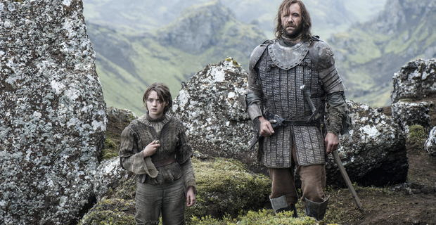 Maisie-Williams-and-Rory-McCann-in-Game-of-Thrones-Season-4-Episode-10