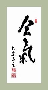 "Aikido Kenkyukai International ""Aiki"" banner"