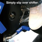 Blue rubber shift sock