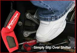 Red installed shift sock