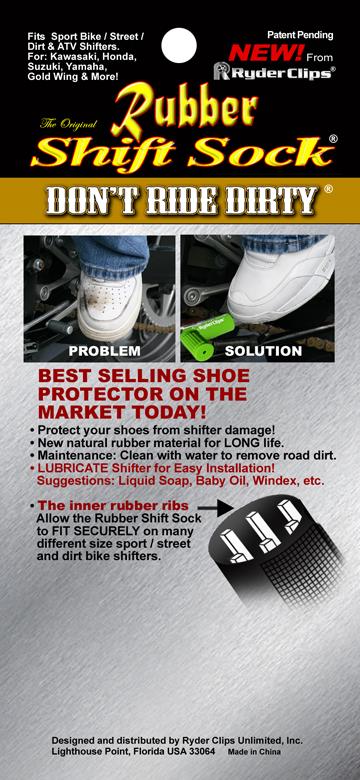 Rubber shift sock instructions pack