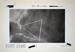 """Executive Order 13256 (file 231) _ pigment, silver leaf on paper, 15""""x22"""""""