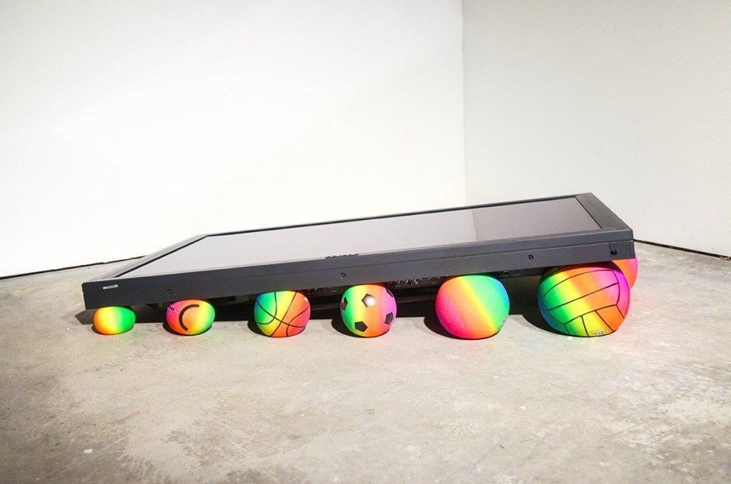 Art Ryder Richards Work/Play: Pyramid _ Pioneer television, balls