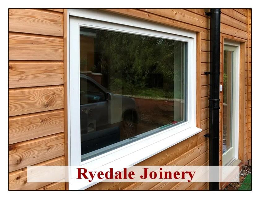 Triple glazed window in Accoya