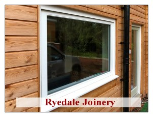 Triple glazed window in Accoya