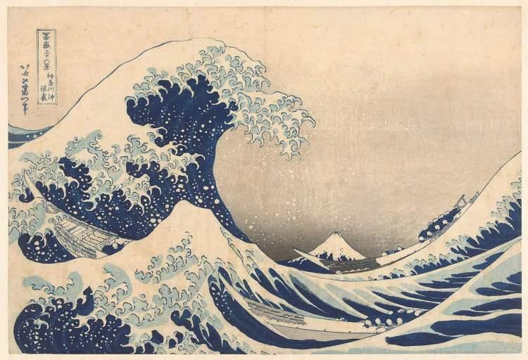 Printmaking: Katsushika HokusaiThe Underwave off Kanagawa, 1829/1833, colourwoodcut, Rijksmuseum Collection