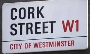 Selling your art. Cork street in London  - centre of London art market