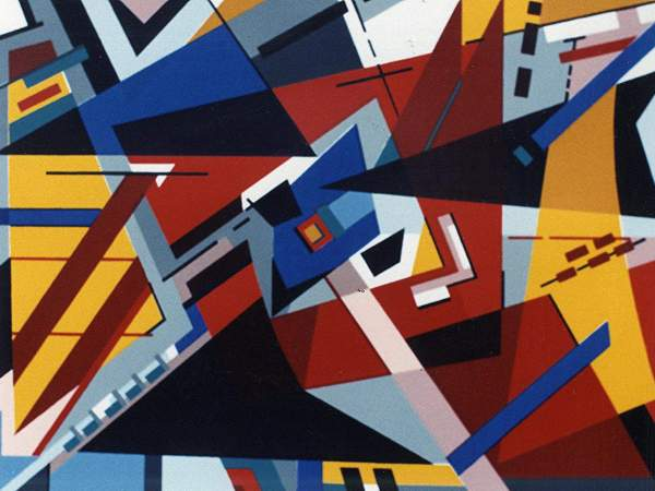 ARROW OF GOD  abstract screenptrint 1986