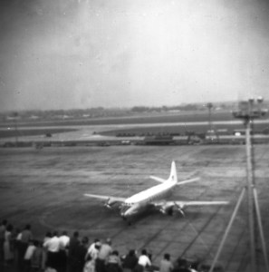 BEA Viscount arriving on stand at Heathrow 1955