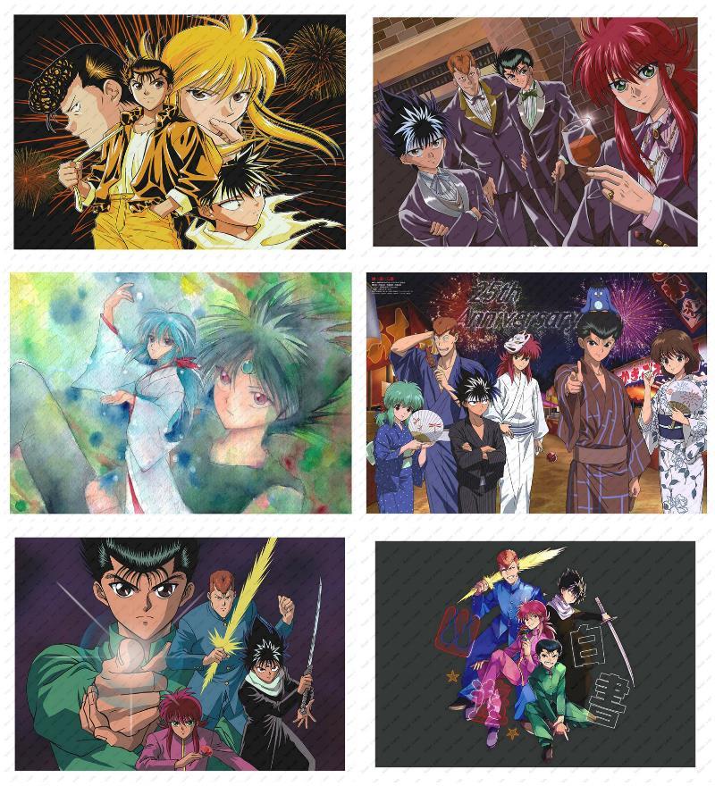 yu yu hakusho anime poster rykamall