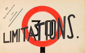 The title page of 'Limitations', Accession 2002/001