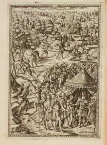 Illustration to Canto I, Orlando Furioso (1584). Spencer 7699.