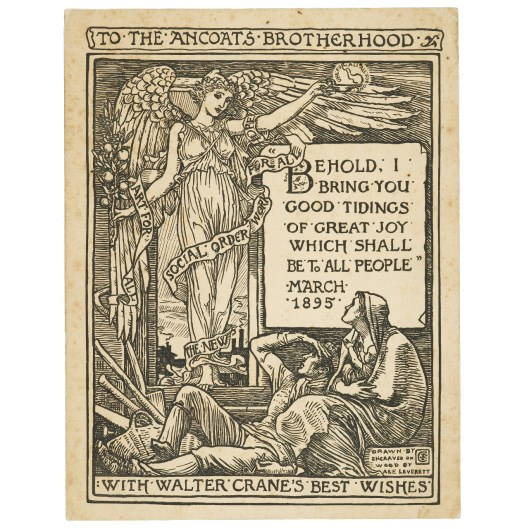 To mark International Day for the Eradication of Poverty a Victorian image of Hope from illustrator Walter Crane.