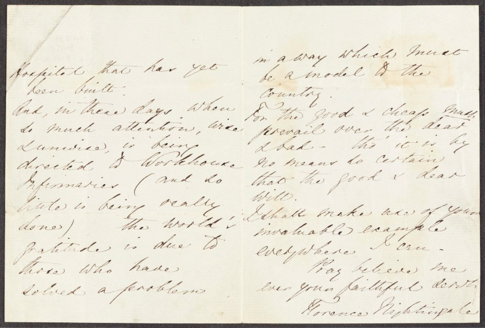 English MS 1154/2. Florence Nightingale Letters to Thomas Worthington