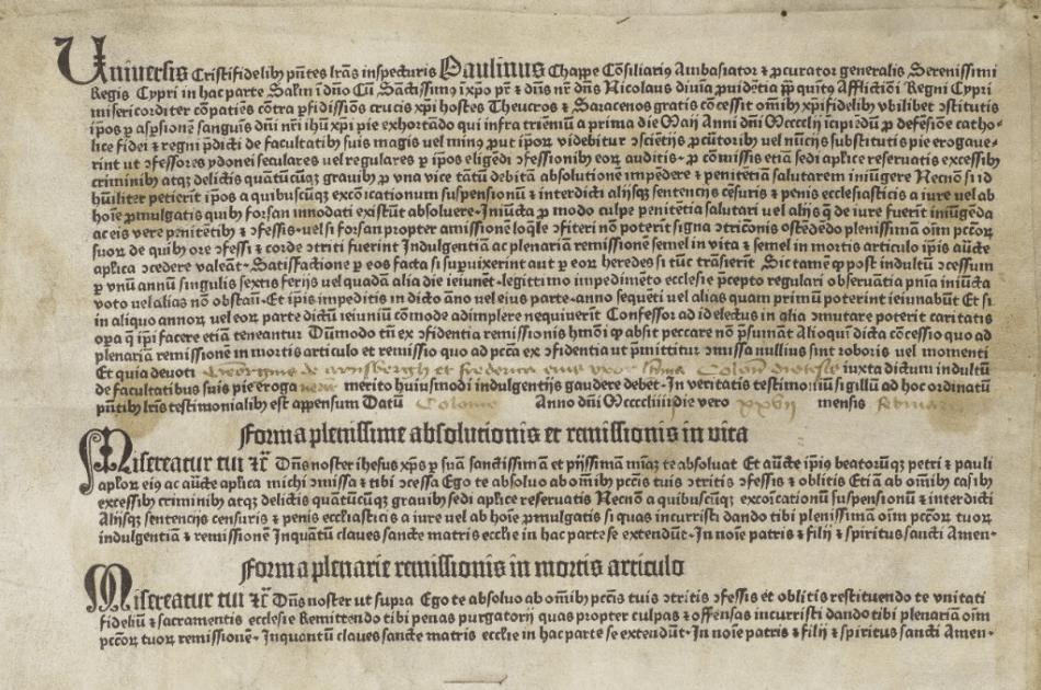 Indulgence 1454