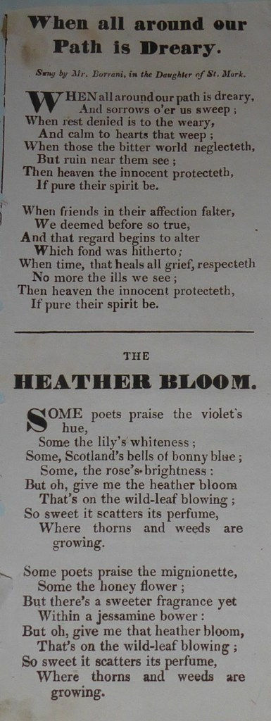 Two ballads printed in one column divided by a single rule: Both have two eight-line verses.