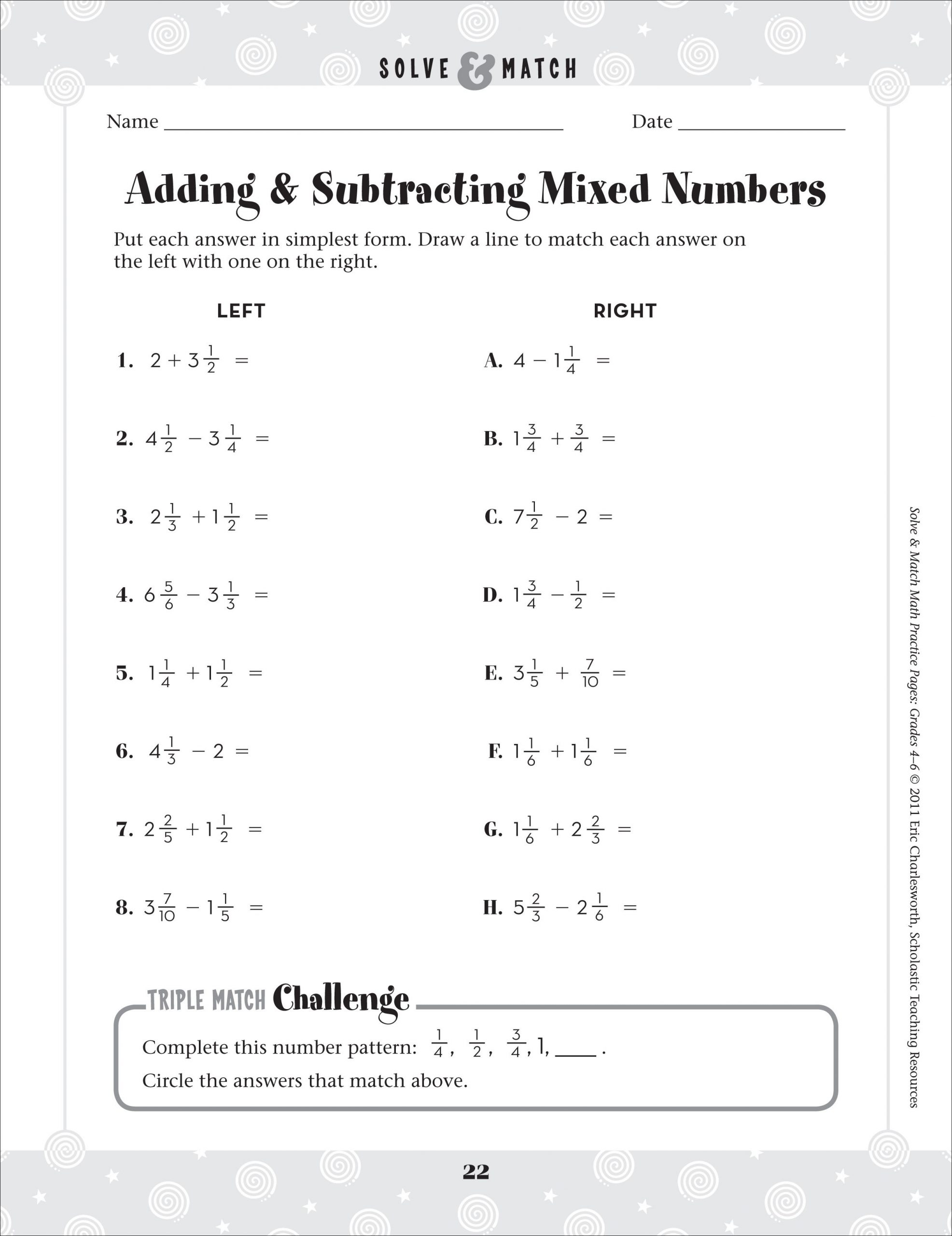 30 Add Mixed Numbers Worksheet