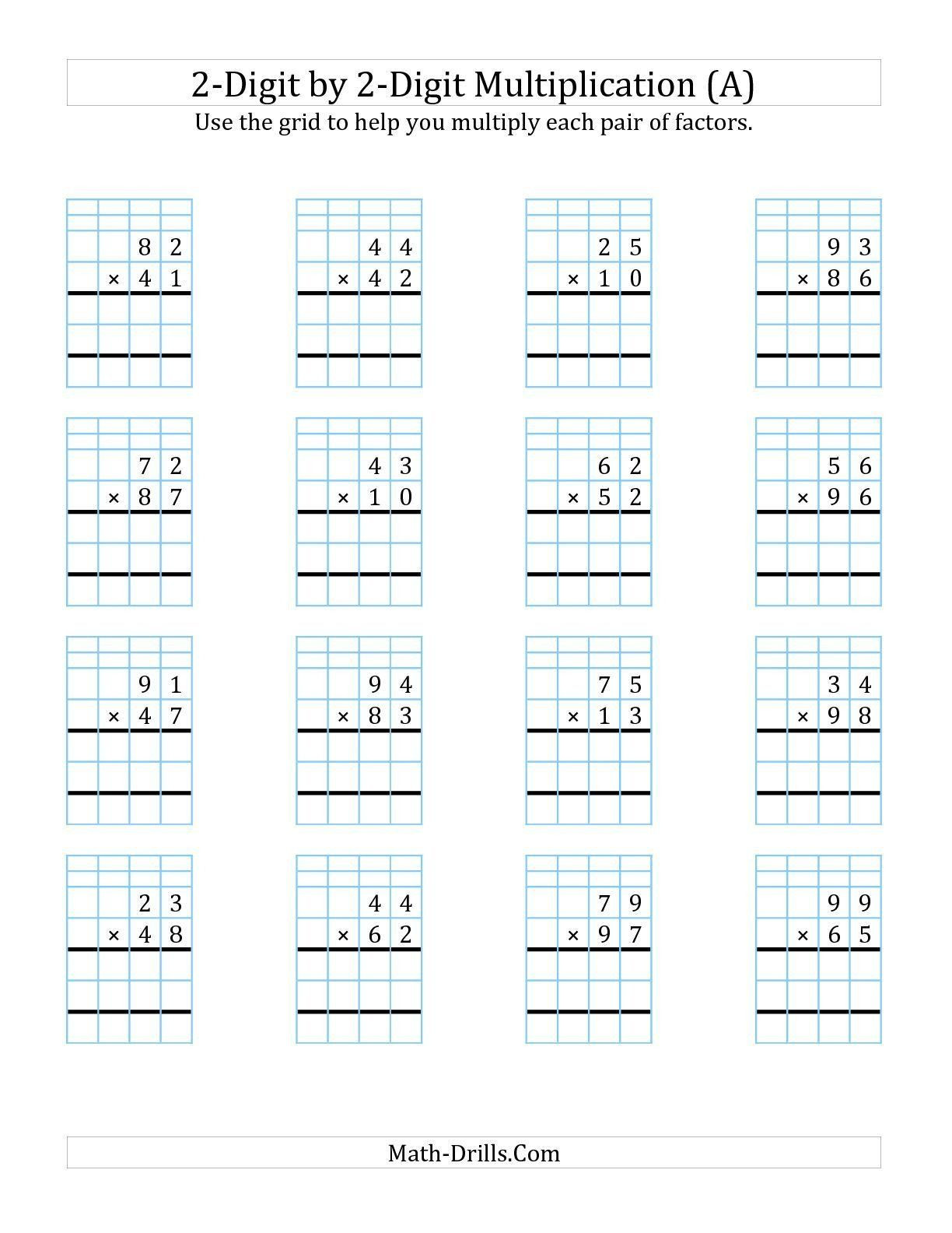 Multiplication Partial Products Worksheet Theme Library