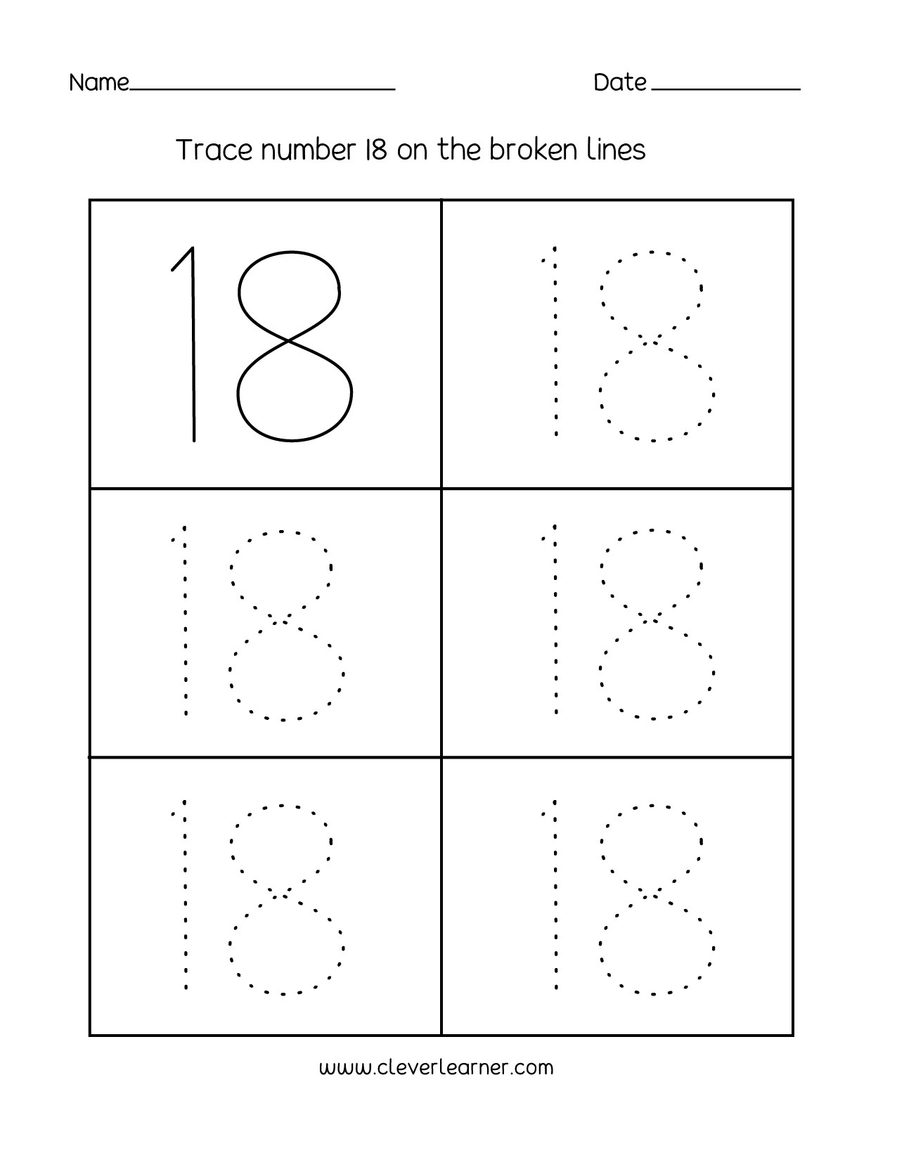 Number 12 Tracing Worksheet Theme Library