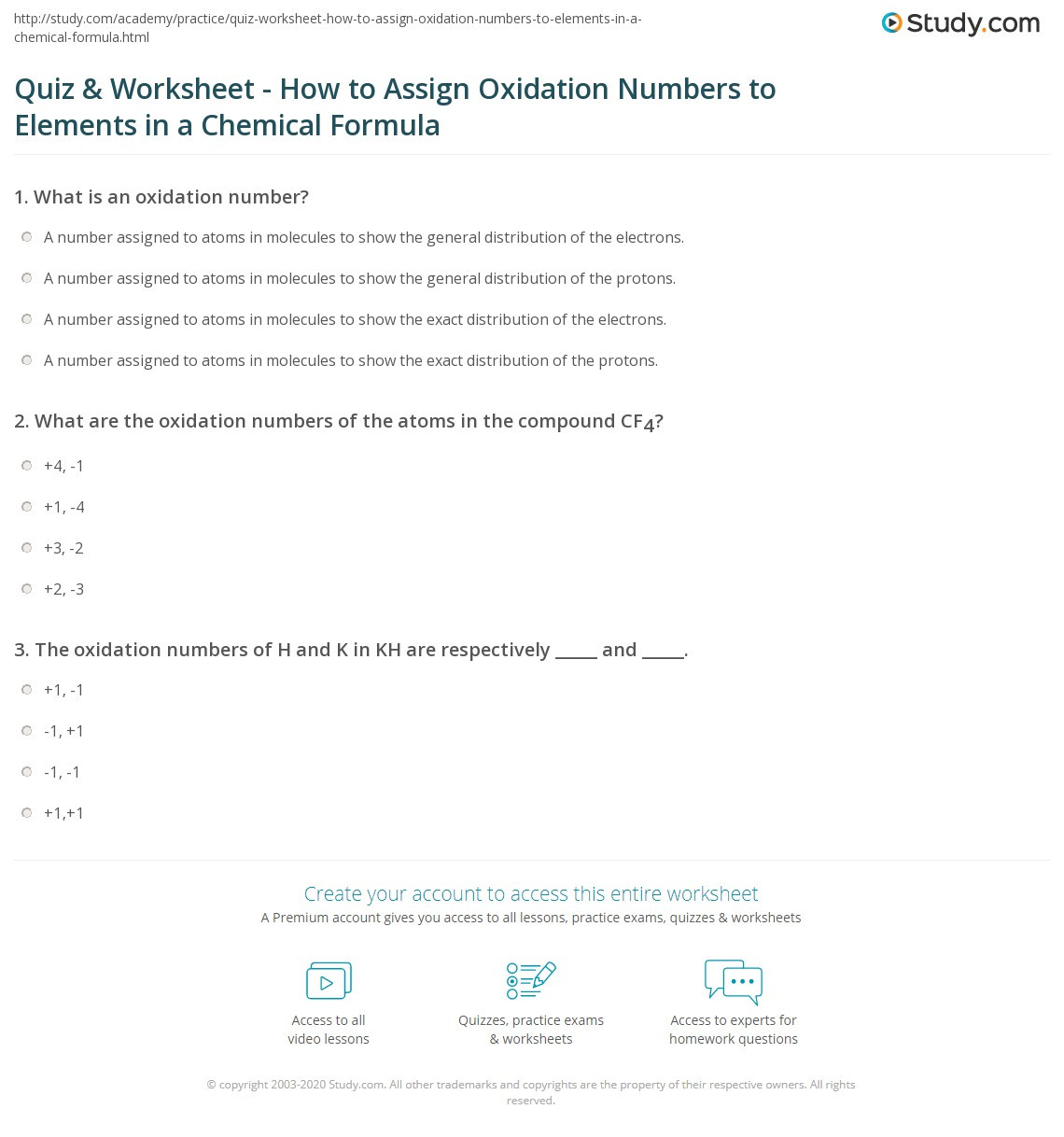 Oxidation Number Worksheet With Answers Theme Library