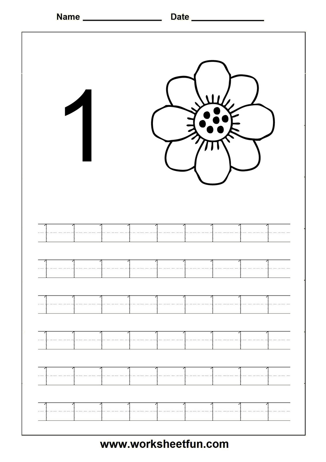 30 Tracing Number Worksheets 1 20