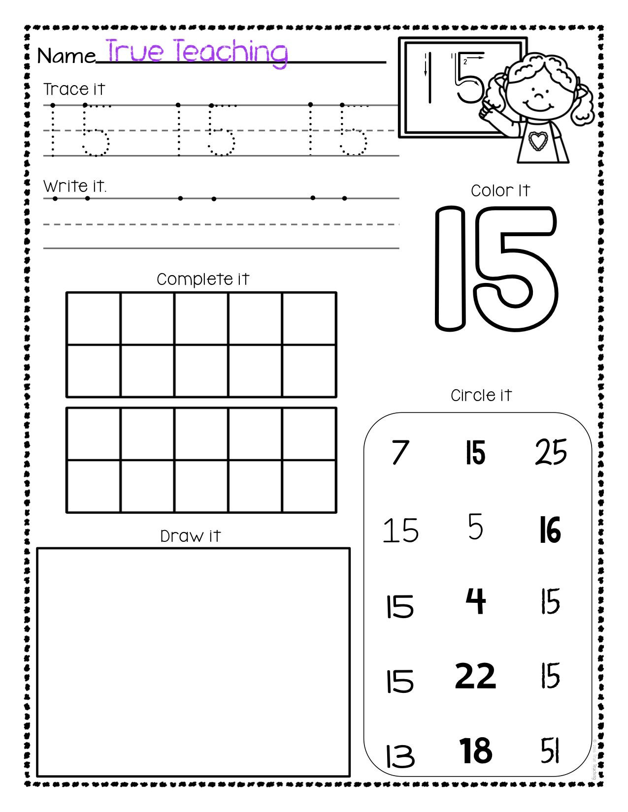 30 Tracing Numbers 11 20 Worksheets