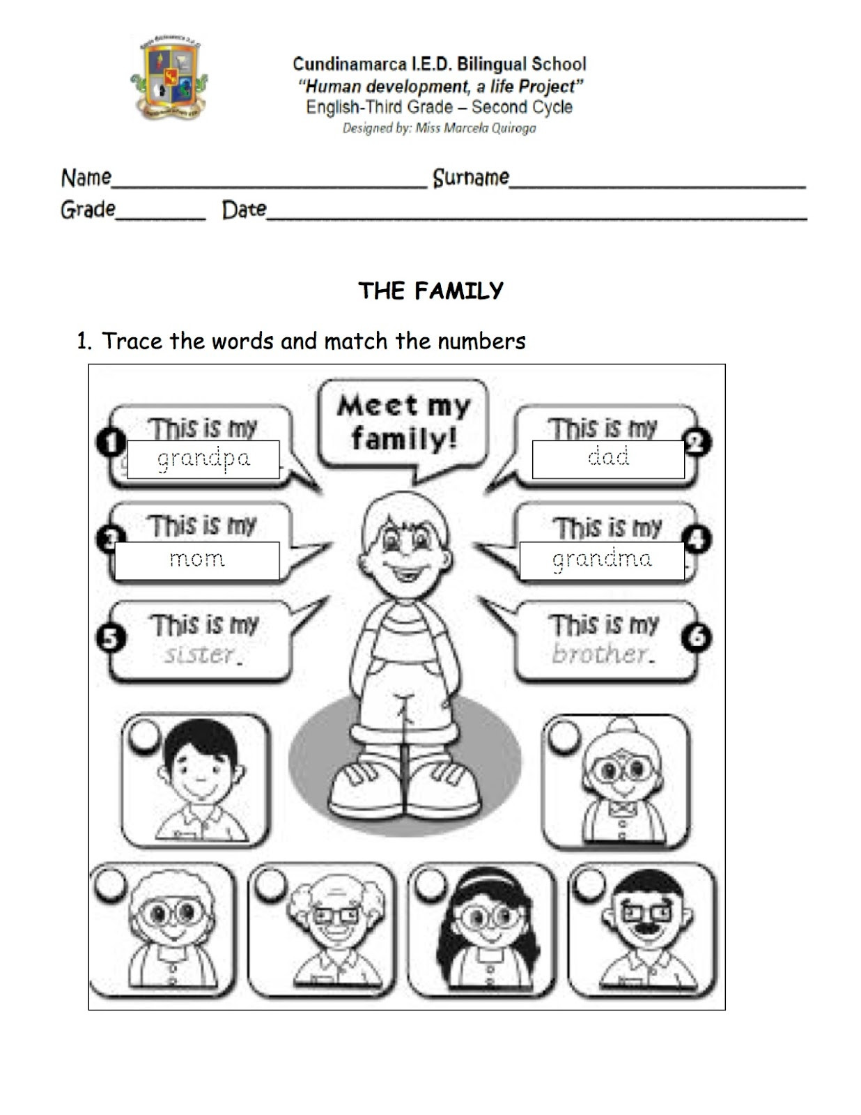 30 All About My Family Worksheets