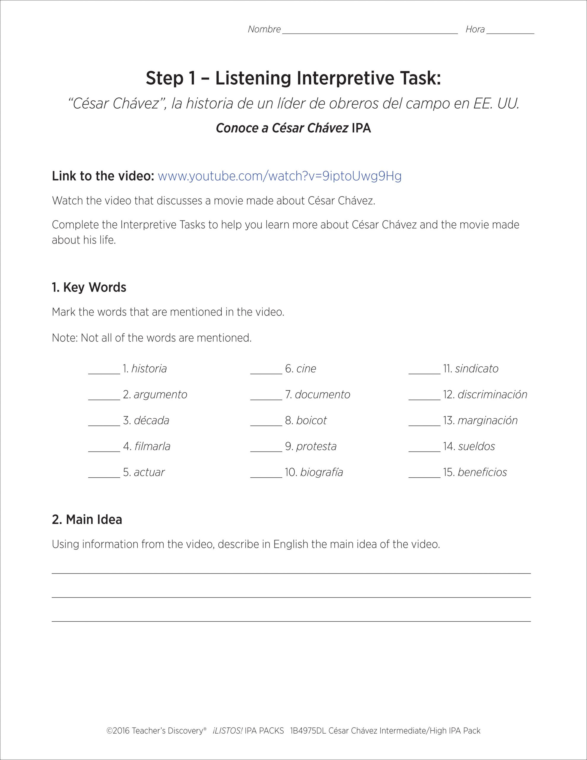 30 Cesar Chavez Worksheet Answers