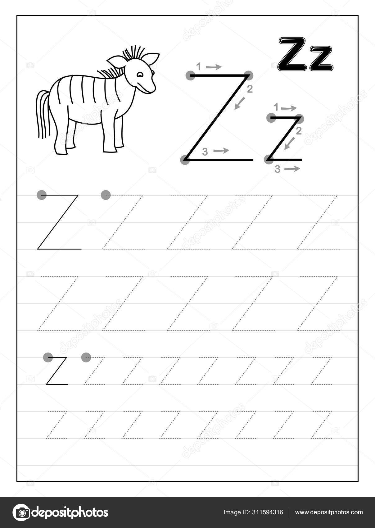 30 Letter Z Worksheets For Kindergarten