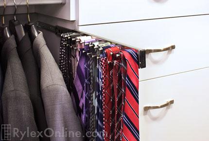 closet tie belt racks scarf rack