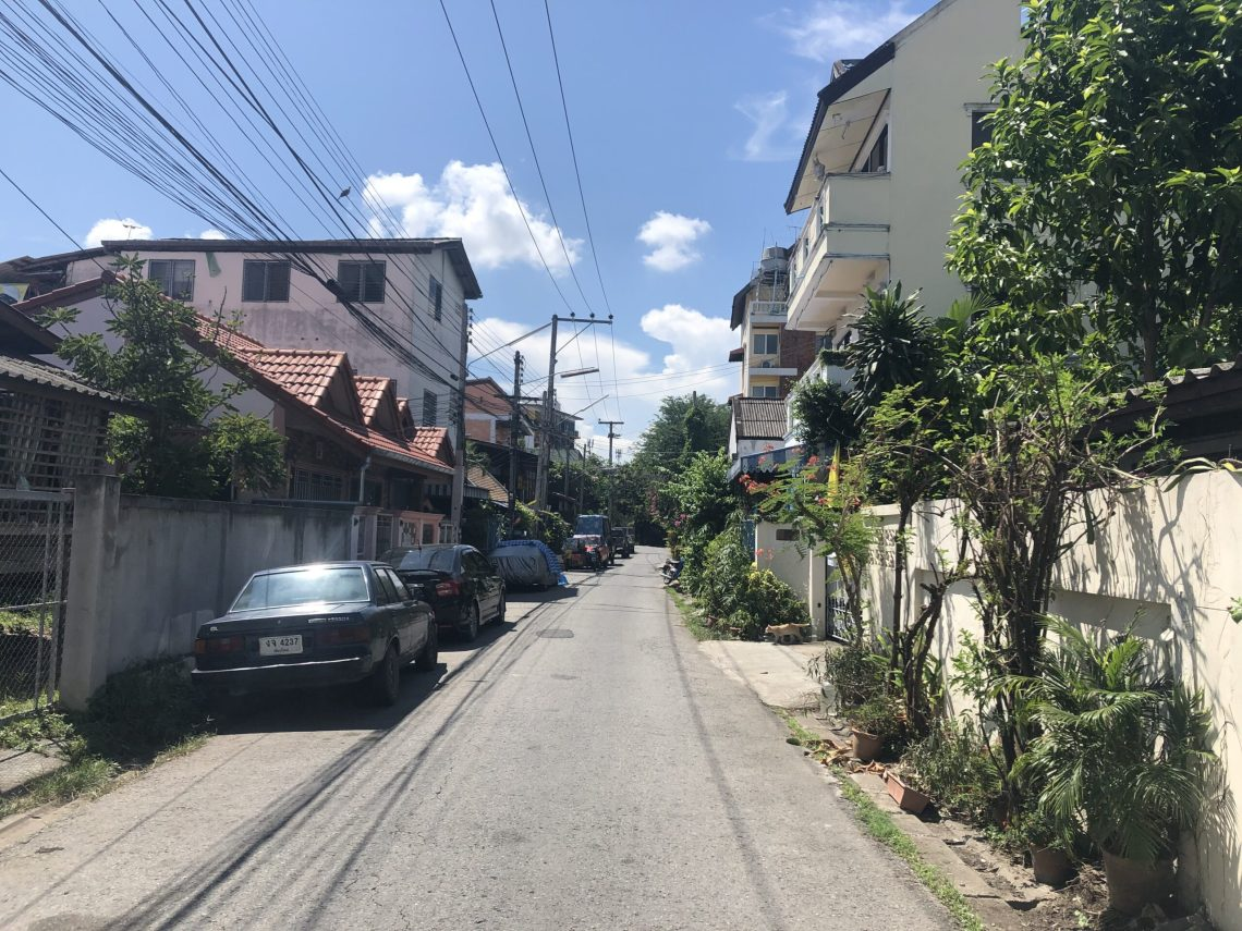 A daytime backstreet outside of Chiang Mai's centre