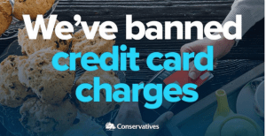 Tories fake claim to have banned credit card charges
