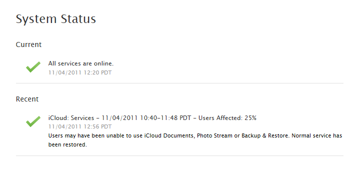 How To: Check Apple iCloud Status