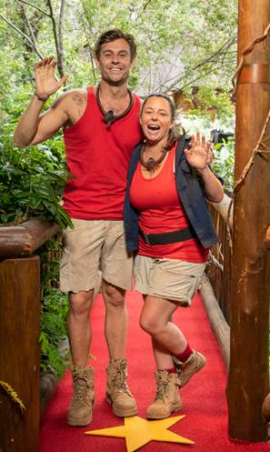 Myf Warhurst and Ryan Gallagher Farewell The Jungle.