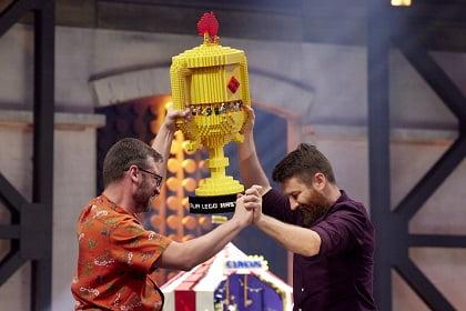 David and Gus win Lego Masters