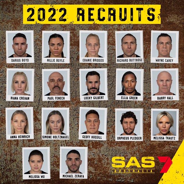 SAS Australia recruits 2022 celebrity cast