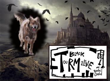black tourmaline crystal collage