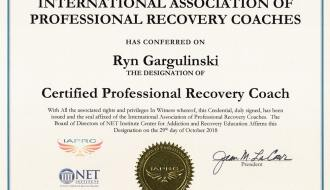 ryn gargulinski recovery coach certification