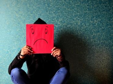 sad mask stop self sabotage