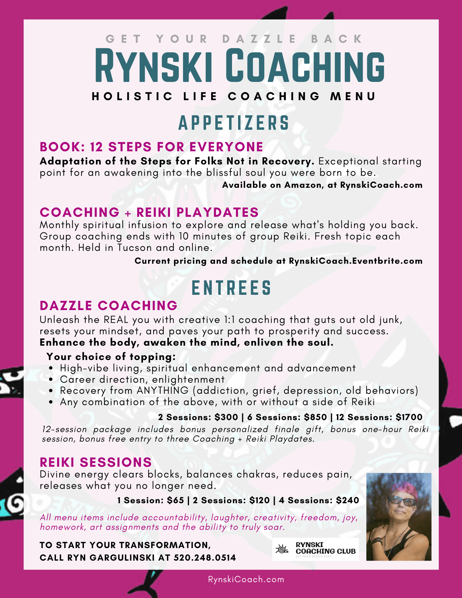 Rynski Coaching Menu