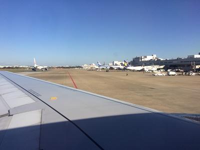 福岡空港飛行機