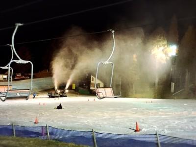 六甲山スノーパークナイター人工雪