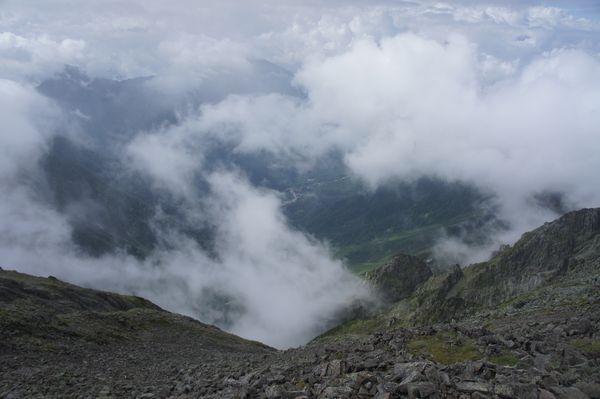 奥穂高岳山頂からの景色