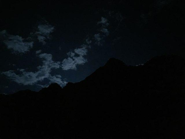 涸沢ヒュッテから見る夜空
