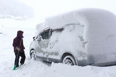 雪で立ち往生