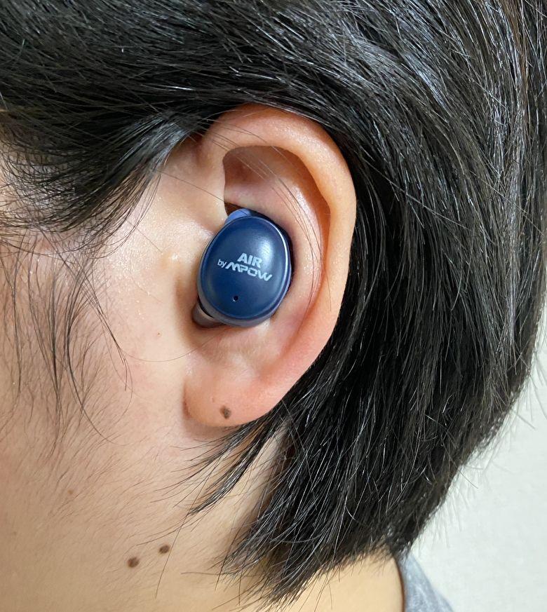 【 【 AIR by MPOW X6.2J 】の装着感と操作方法