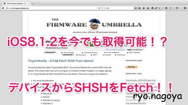The Firmware Umbrella TinyUmbrella iOS Android hacking jailbreaking information
