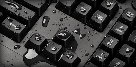 G213 ゲーミングキーボード 耐水性