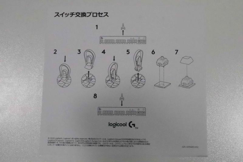 スイッチ交換方法の説明書